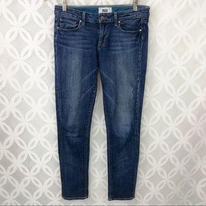 PAIGE Skyline Ankle Skinny Distressed Jeans